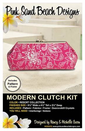 Modern Clutch Kit, Pink Sands Beach Design