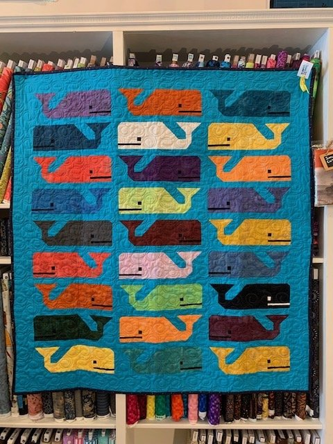 Quilt Sample - Preppy the Whale