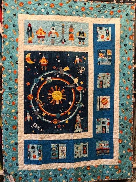 Quilt Sample - Space Adventure 43x60
