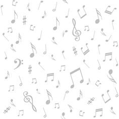 Quilters Basic Harmony White Music Notes