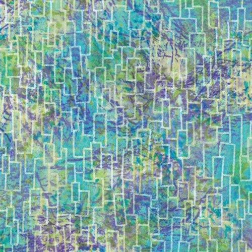 Freeform Weave Rectangles Blue/Green