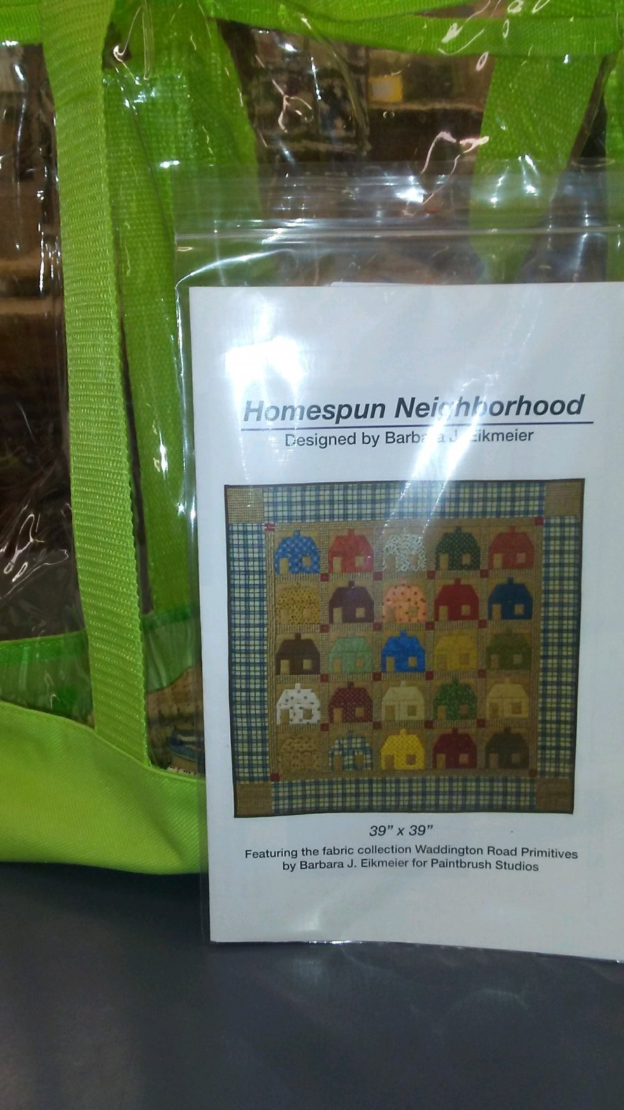 Homespun Neighborhood Kit w/free bag   39 x 39