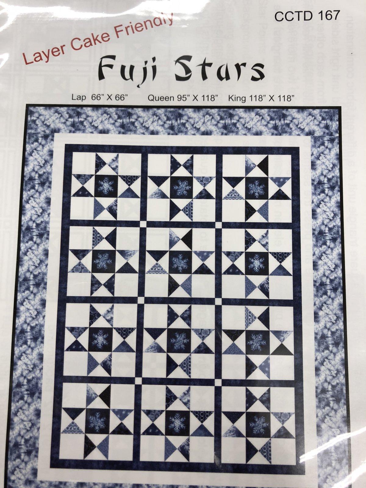 Calico Carriage Quilt Designs FUJI Stars Pattern