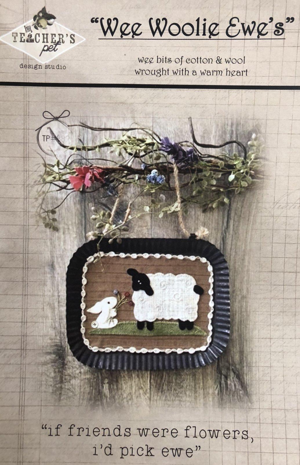 Wee Woolir Ewe's If Friends were flowers pattern