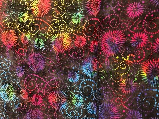 Wilmington Print Multi Flower Burst 108 Backing
