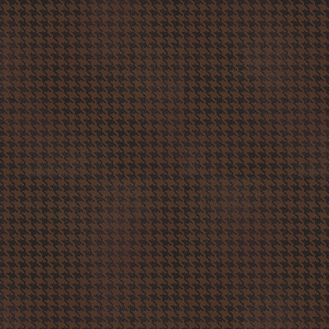 Blushed Houndstooth - Brown Fabric