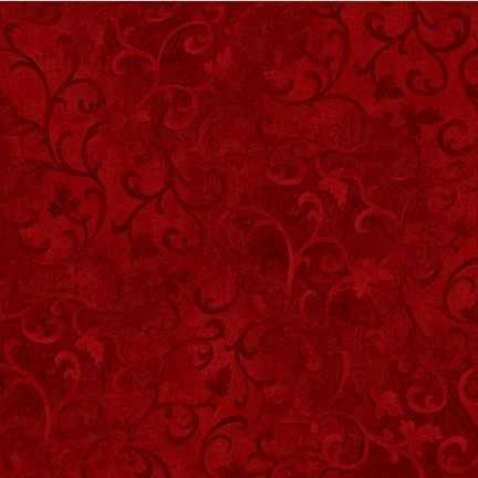 Essential Scroll - Red Fabric