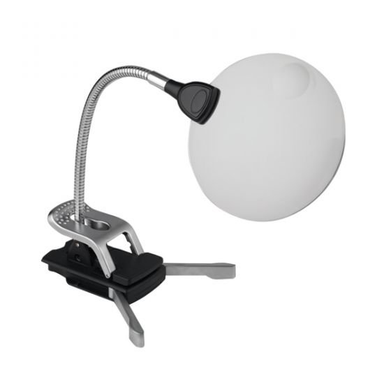 LED Flexilens Magnifying Lamp with Base and Clip