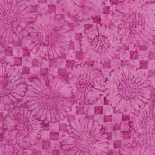 IB Check Sunflower - Rasberry Batik