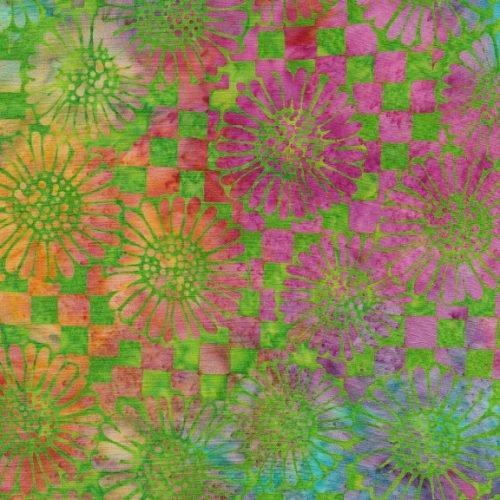 IB Check Sunflower - TieDye Batik