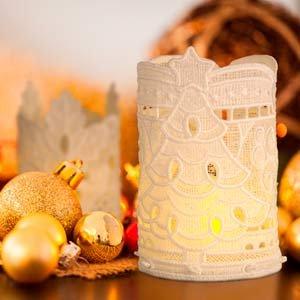 OESD Freestanding Lace Christmas Tea Light Holder CD