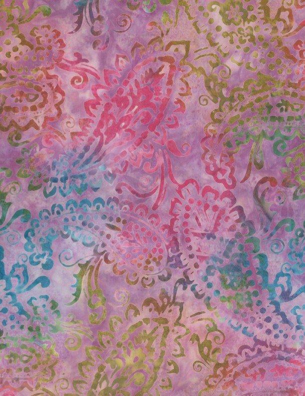 Delicate Paisley - Lavender Batik