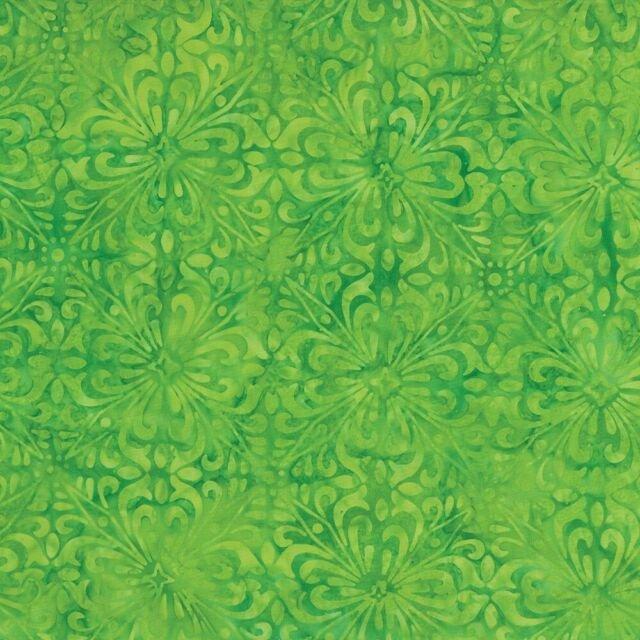Fancy Tiles - Lime Green Batik