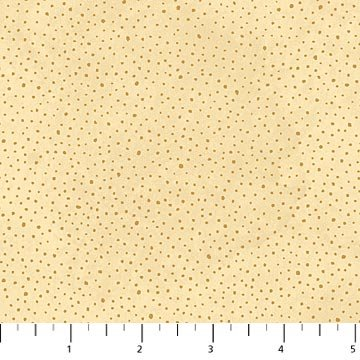 Angels Above Dots - Beige Fabric