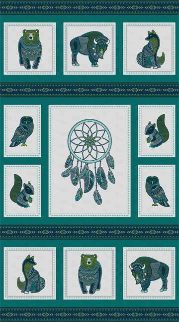 Great Plains Panel - Light Teal