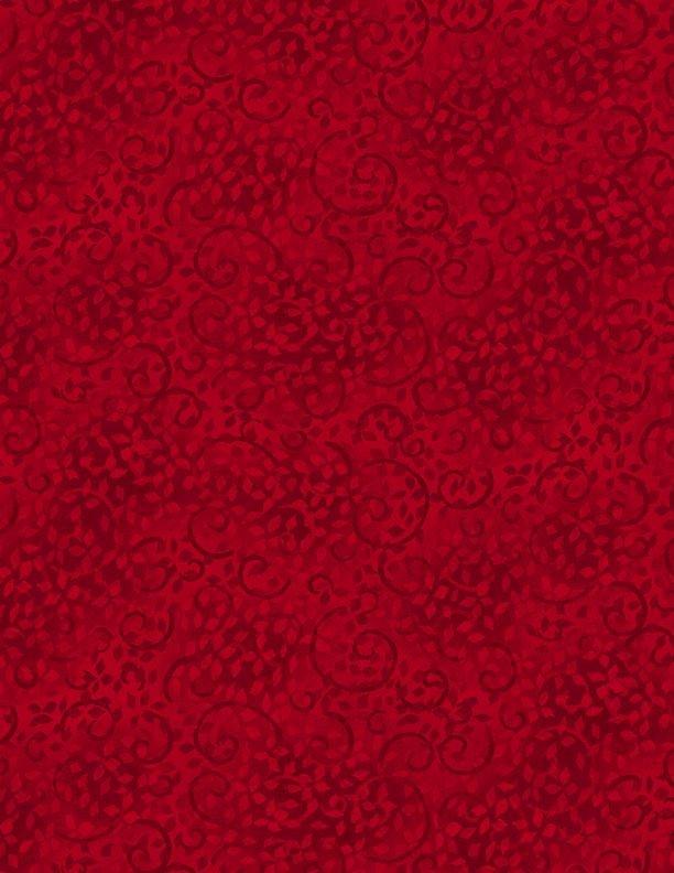 Essential Leafy Scroll - Ruby Slippers Fabric