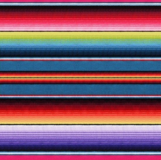 Fiesta Serape Stripe - Blue Fabric