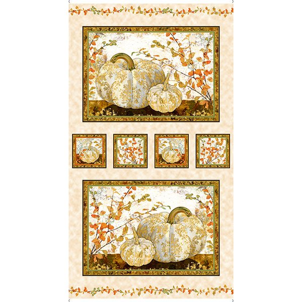 Autumn Shimmer Pumpkin Picture Panel