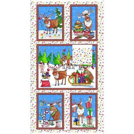 Reindeer Antics Panel