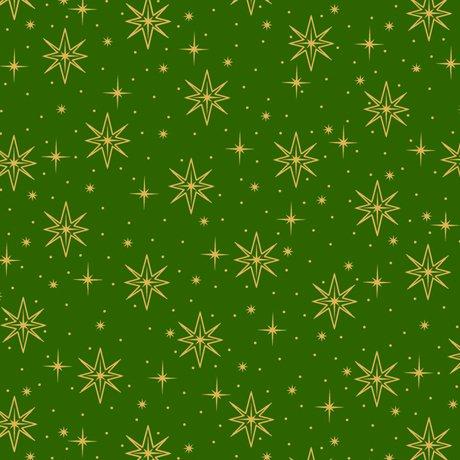 Holy Night Stars - Green Fabric