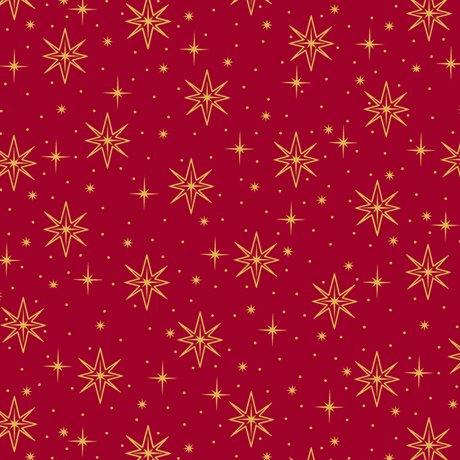 Holy Night Stars - Red Fabric