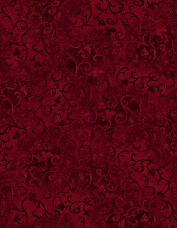 Scroll Flannel - Burgundy