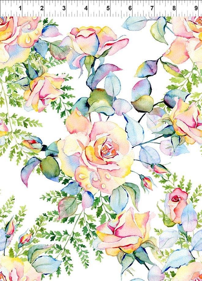 Patricia Large Roses - Soft Multi