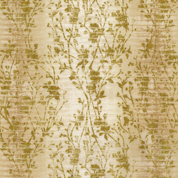SO Precious Metals Velvety Vines - Pearl Fabric