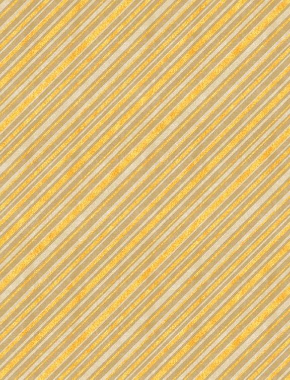 Jardin Du Soleil Stripe - Yellow Fabric