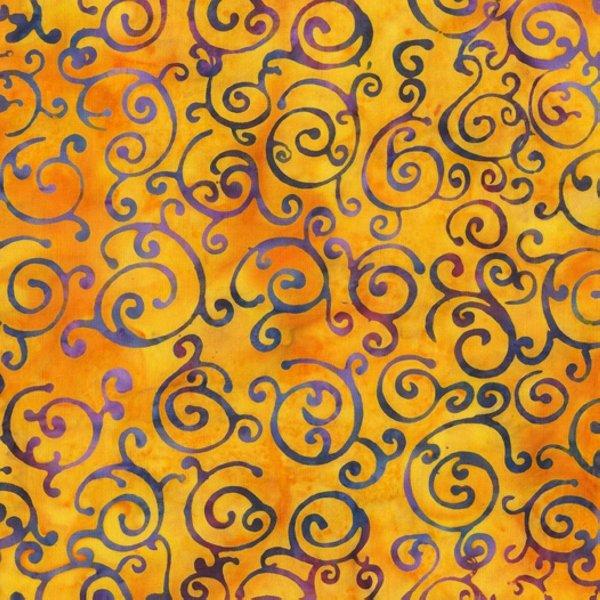 Scrolls- Bright Batik