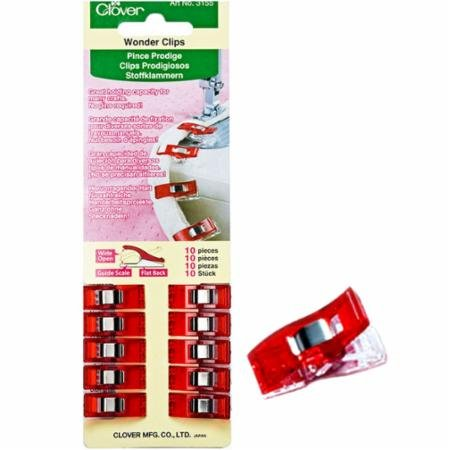 Clover Wonder Clips - 10 pc pak Red