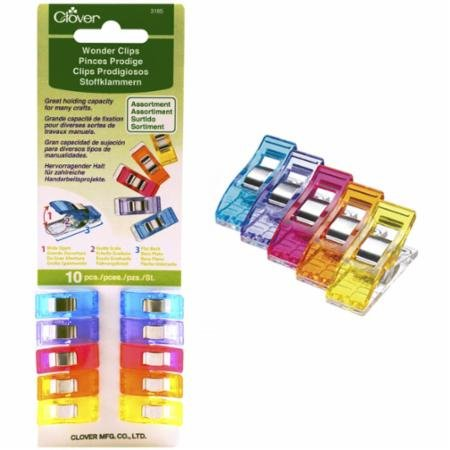 Clover Wonder Clips - 10 pc pack Asst Color