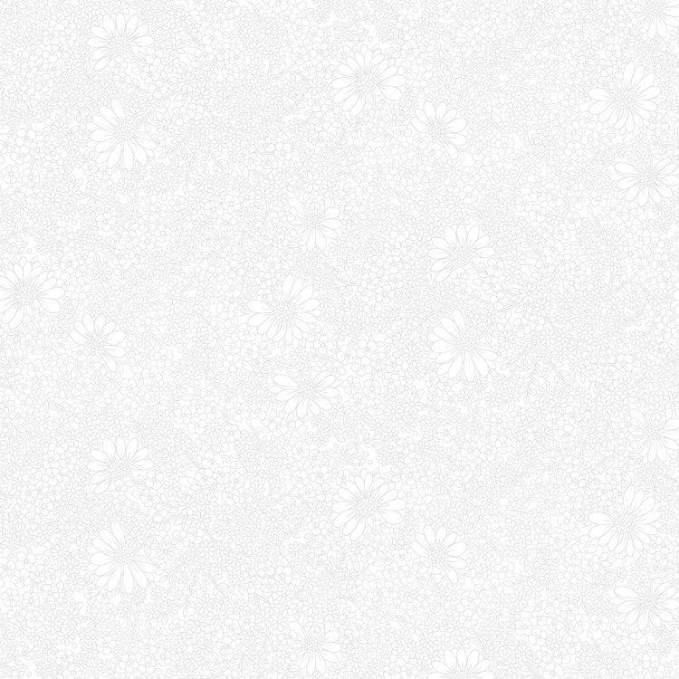 Bare Essentials Linework Floral - White Glove Fabric