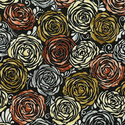 SO Precious Metals Candied Roses - Rose Gold Fabric
