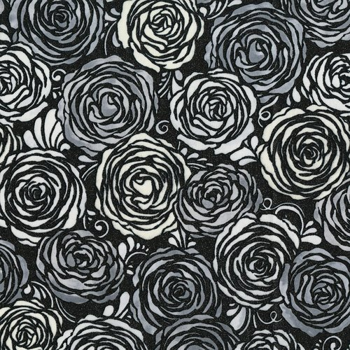 SO Precious Metals Candied Roses - Radiant Platinum Fabric