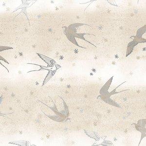 SO Pie in the Sky - Vanilla Metallic Fabric