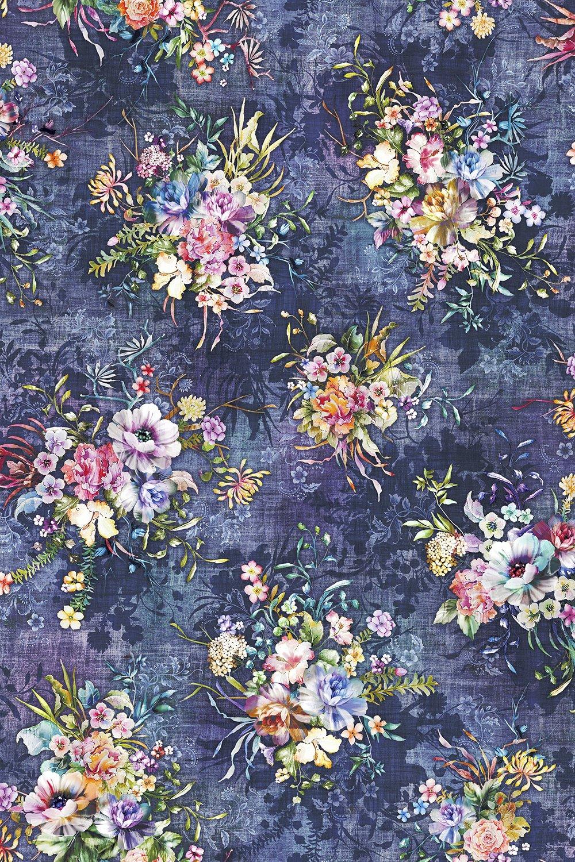 Fleur Couture Boutique Blooms - Vintage Digital Fabric