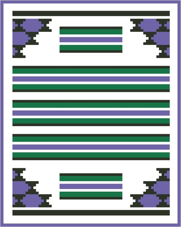 Saddle Blanket Counted Cross Stitch Chart