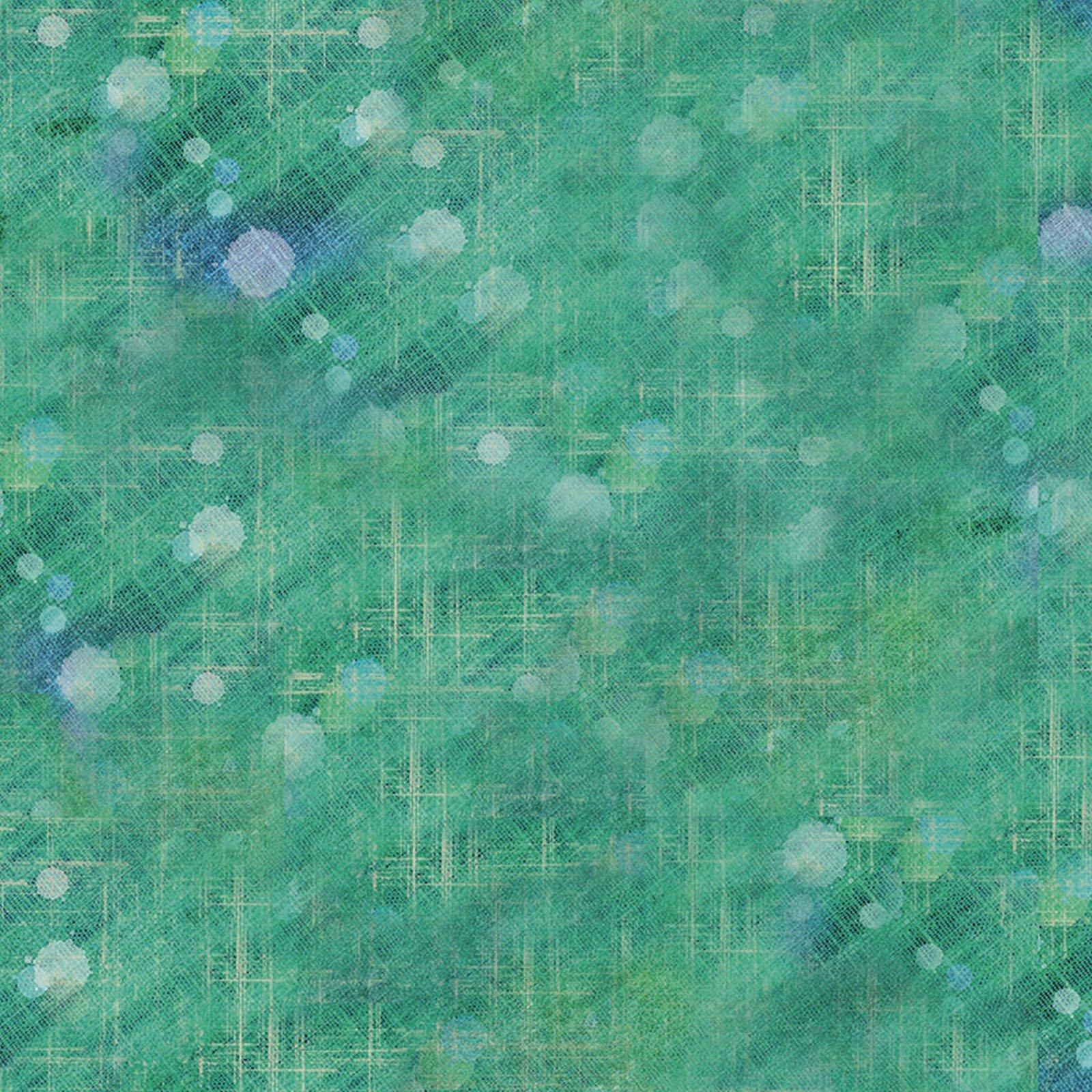 Boho Owls Geo Splotch - Green Digital Print Fabric