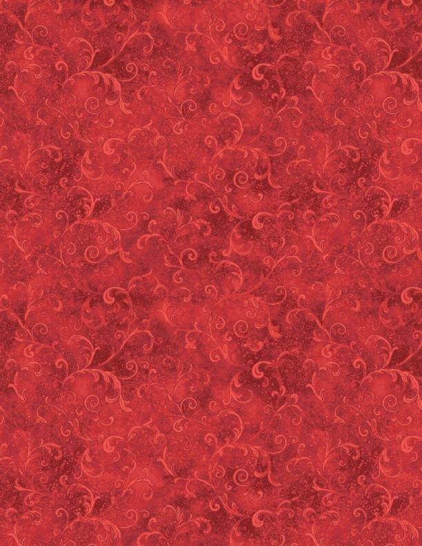 Essentials Filigree - Red Fabric