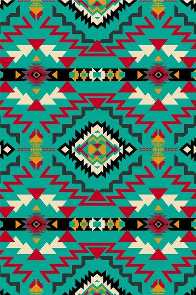 Southwest Geometric - Turquoise Fleece