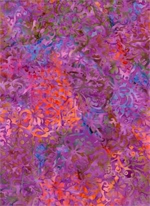 In the Meadow Floral - Purple Batik