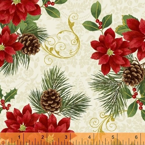 Deck the Halls - Ivory Fabric