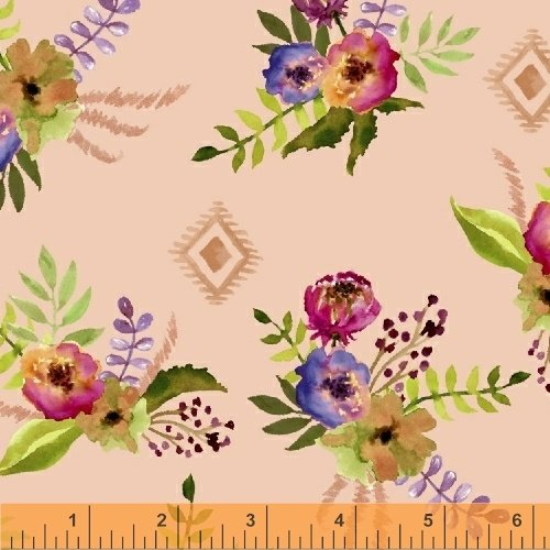 Wanderer's Weekend Floral Bouquet - Apricot Fabric