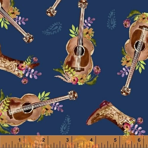 Wanderer's Weekend Guitars - Navy Fabric