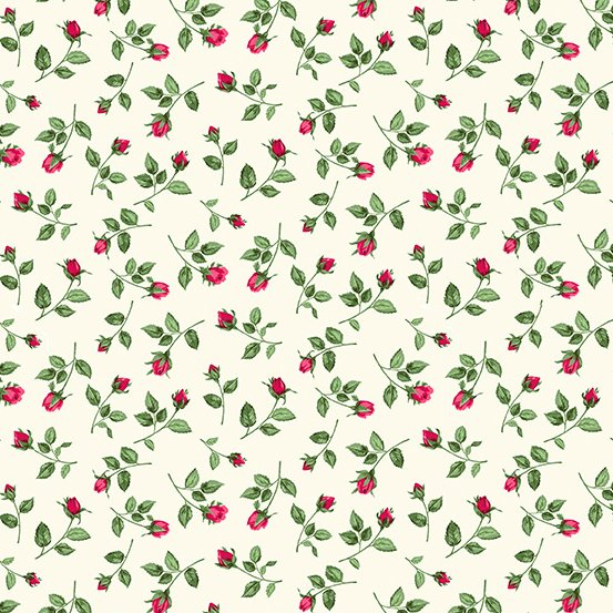 Summer Garden Rosebuds - Red