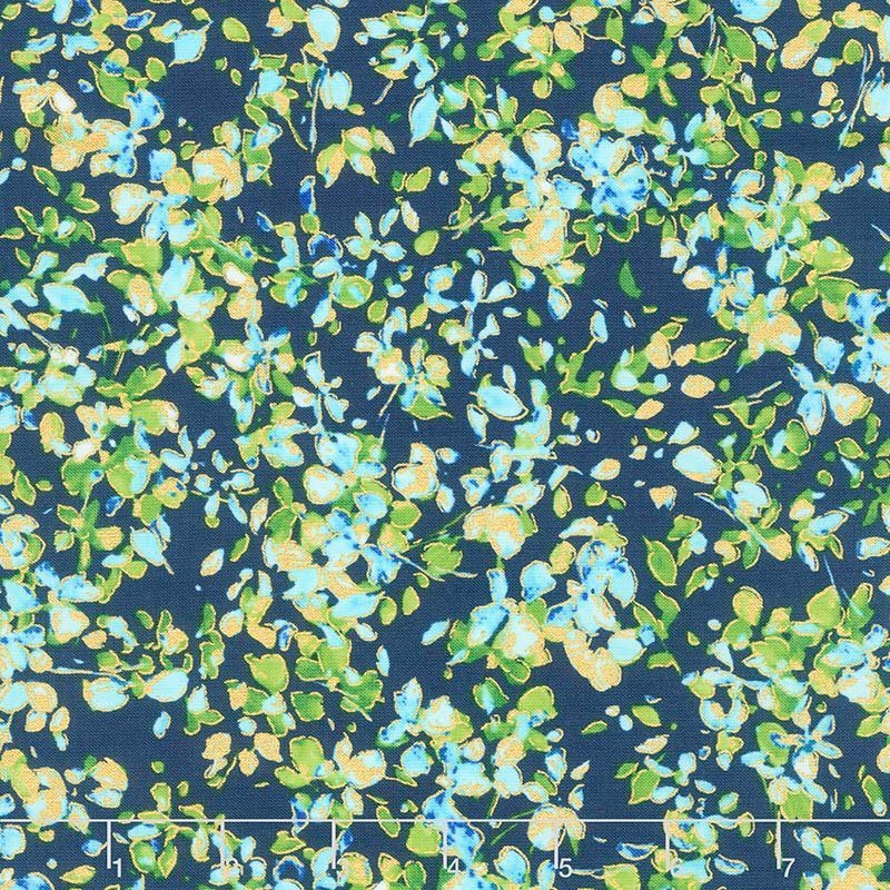 Petal Party - Navy/Turquoise