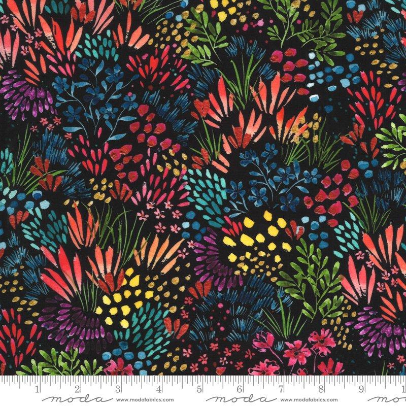 Moody Bloom Wildflowers - Black Multi DP