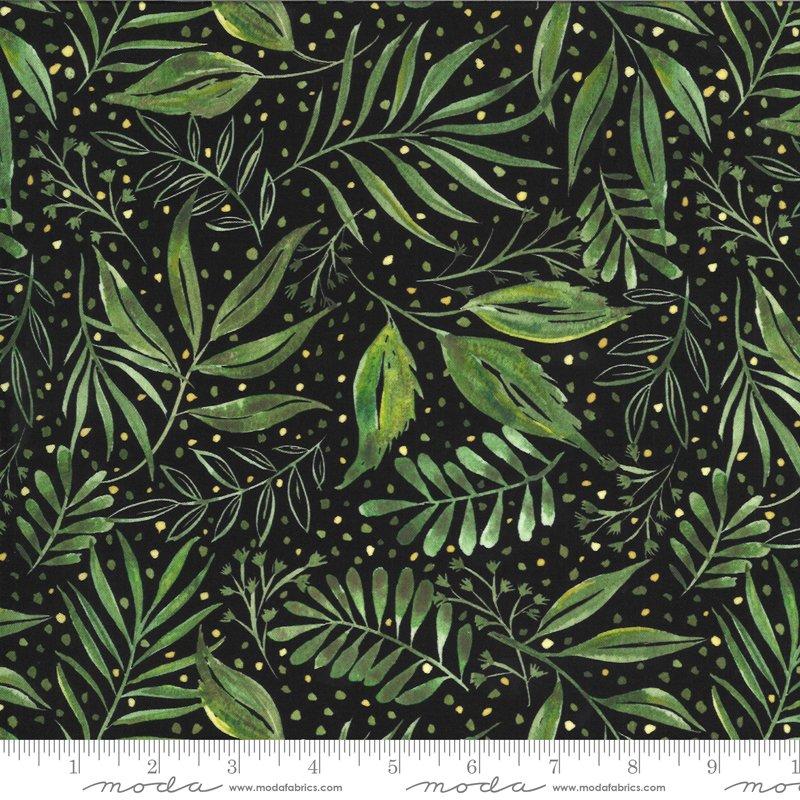 Moody Bloom Ferns - Black DP