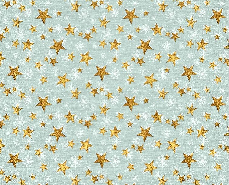 Friendly Gathering Stars  - Teal Fabric